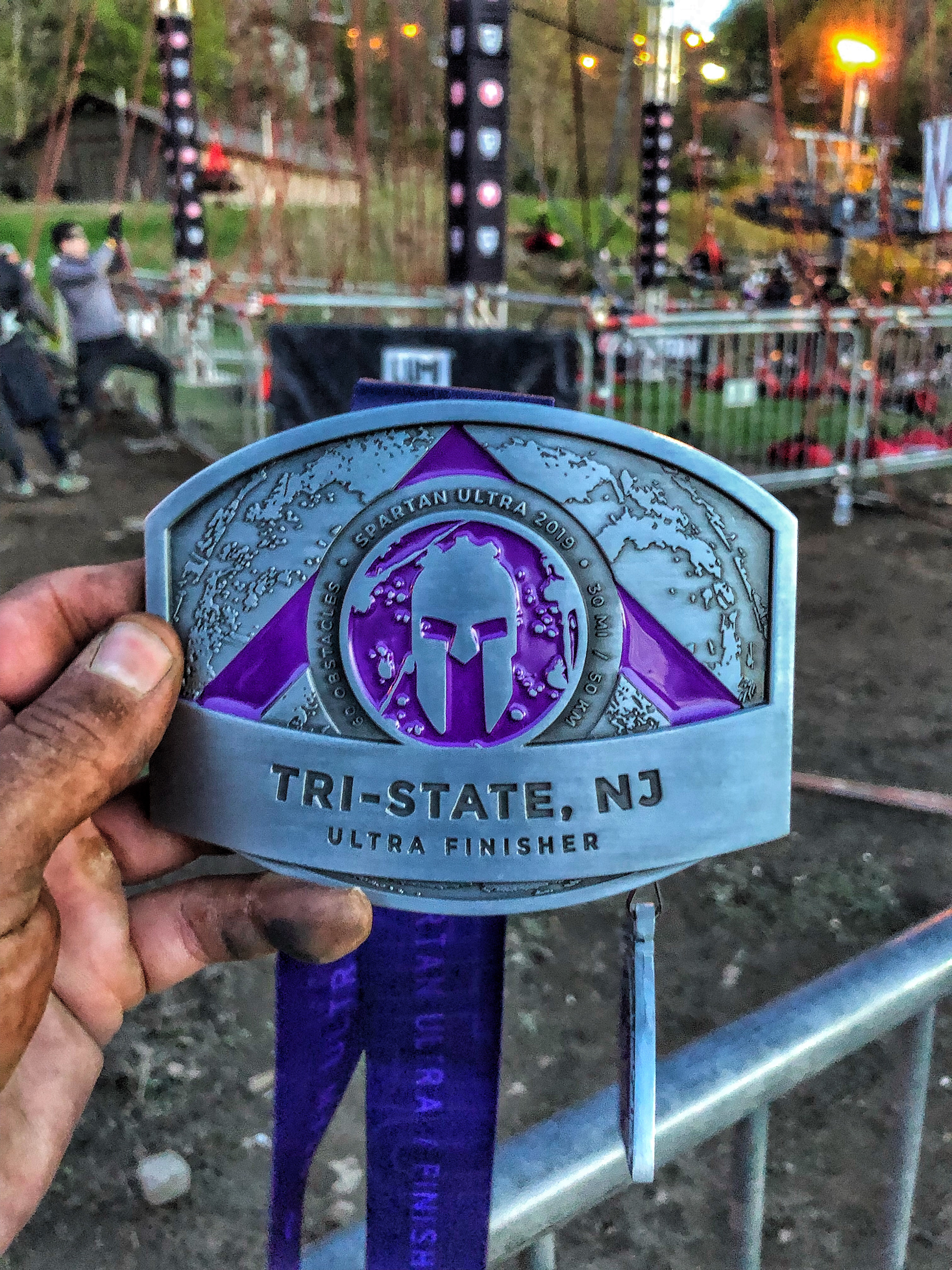 Spartan Race Ultra Buckle Medal Tri-State New Jersey 2019
